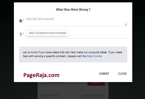 feedback or report a problem